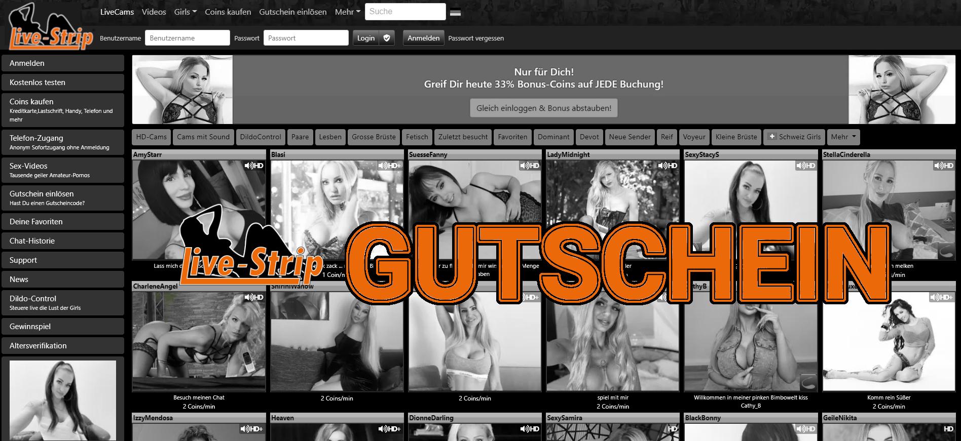Livestrip Gutschein